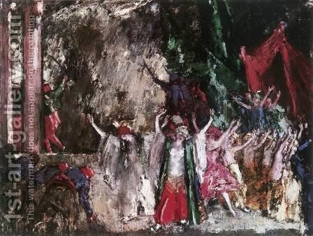 Theatrical Scene Finale 1923 by Janos Vaszary - Reproduction Oil Painting