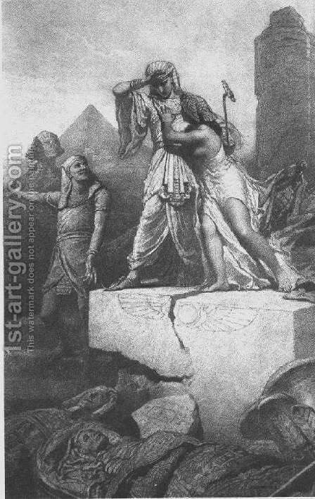 Illustration to Imre Madachs The Tragedy of Man- In Egypt Scene 4 1887 by Mihaly von Zichy - Reproduction Oil Painting