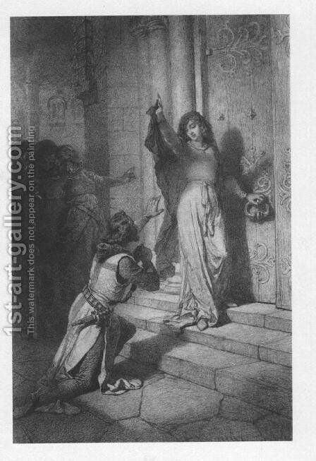 Illustration to Imre Madachs The Tragedy of Man- In Constantinople Scene 7 1887 by Mihaly von Zichy - Reproduction Oil Painting