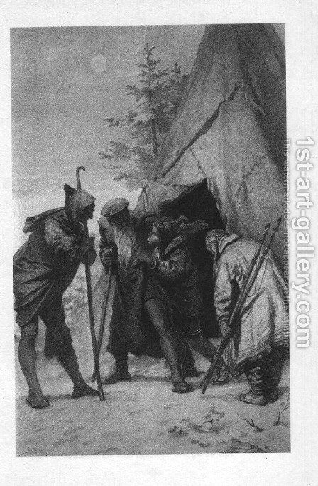 Illustration to Imre Madachs The Tragedy of Man- Eskimo Scene Scene 14 1887 by Mihaly von Zichy - Reproduction Oil Painting