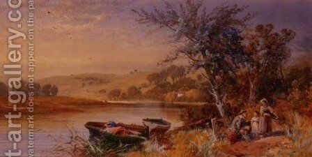 Lakeside 2 by James Burrell Smith - Reproduction Oil Painting