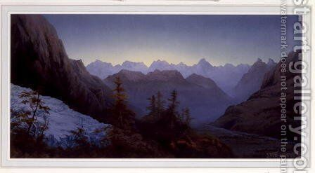 Dawn in the Alps, 1875 by James Whittet Smith - Reproduction Oil Painting