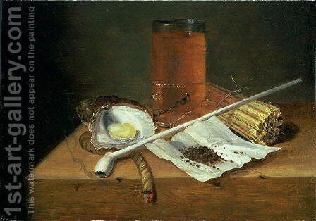 Still life with Smoking Requisites, 1659 by Casparus Smits - Reproduction Oil Painting