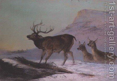 Winter by Edward Robert Smythe - Reproduction Oil Painting