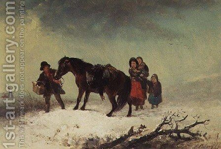 Snow Scene by Edward Robert Smythe - Reproduction Oil Painting