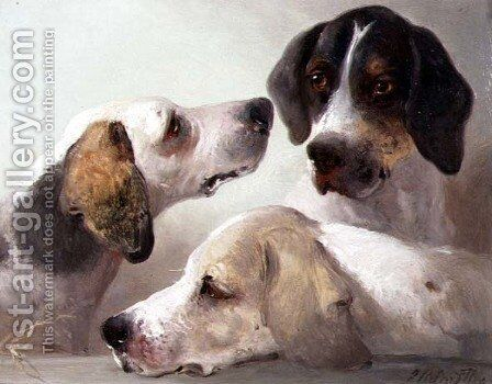 A Study of Hounds by Edward Robert Smythe - Reproduction Oil Painting