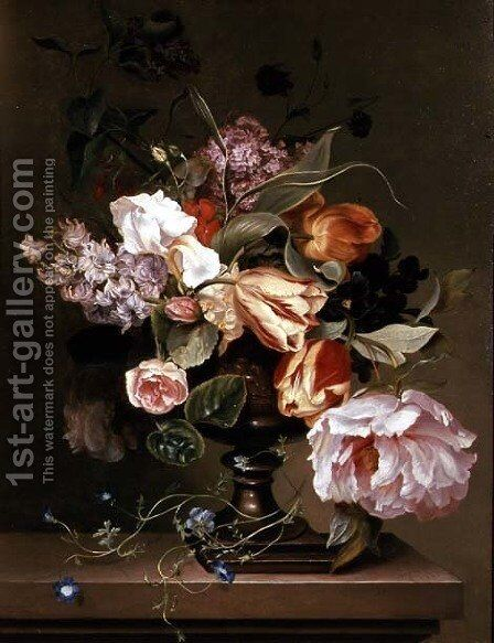Still life with flowers by Marie Geertruida Snabille - Reproduction Oil Painting