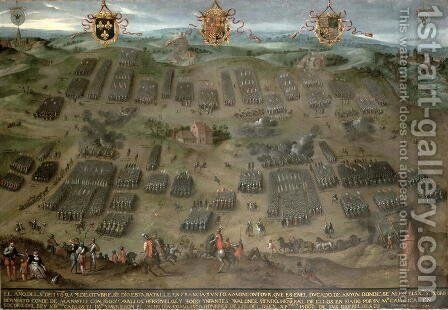 The Battle of Moncontour, 30 October 1569, 1587 by Jan Snellinck - Reproduction Oil Painting