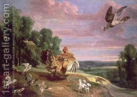 The Hawk and the Hen by Frans Snyders - Reproduction Oil Painting