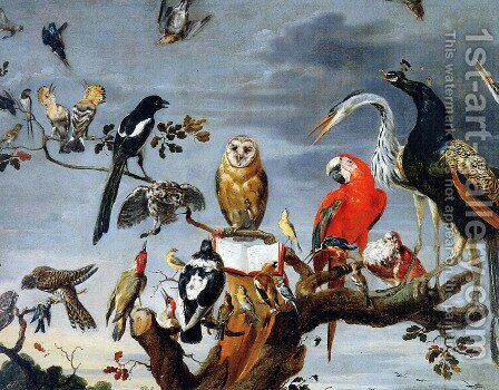 Concert of Birds 2 by Frans Snyders - Reproduction Oil Painting