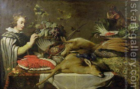 Pantry Scene with a Page, c.1615-20 by Frans Snyders - Reproduction Oil Painting