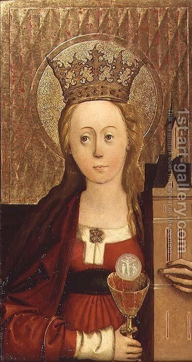 St. Barbara by Conrad von Soest - Reproduction Oil Painting