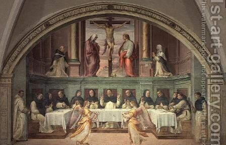 The Crucifixion, from the San Marco Refectory by Bartolommeo Sogliani - Reproduction Oil Painting