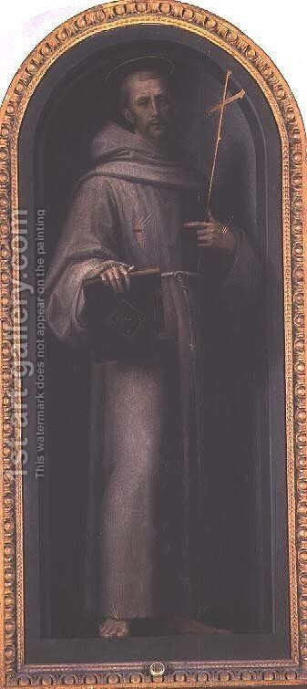 St. Francis by Giovanni Antonio Sogliani - Reproduction Oil Painting