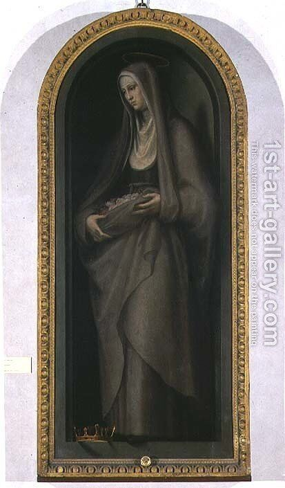 St. Elizabeth of Hungary by Giovanni Antonio Sogliani - Reproduction Oil Painting