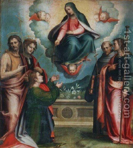 The Madonna of the Girdle, 1521 by Giovanni Antonio Sogliani - Reproduction Oil Painting
