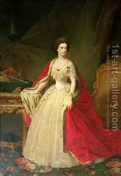 Empress Elizabeth 1837-98 of Bavaria by Giuseppe Sogni - Reproduction Oil Painting