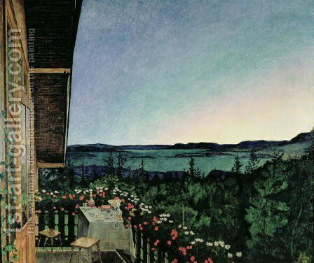 Summer Night, 1899 by Harald Oscar Sohlberg - Reproduction Oil Painting