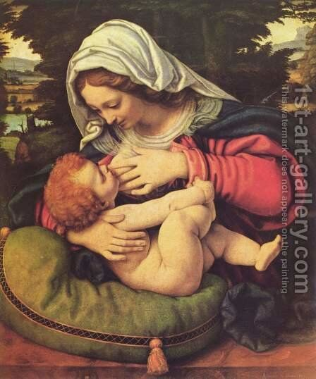 The Virgin of the Green Cushion, 1507-10 by Andrea Solario - Reproduction Oil Painting
