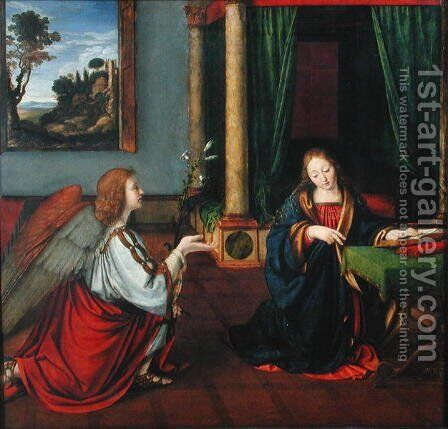 The Annunciation, 1506 by Andrea Solario - Reproduction Oil Painting