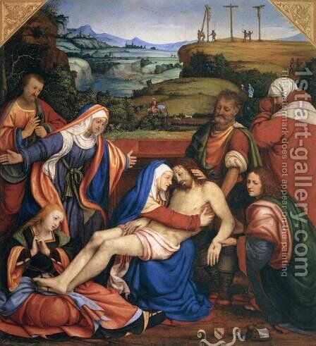 The Lamentation of Christ, c.1504-07 by Andrea Solario - Reproduction Oil Painting
