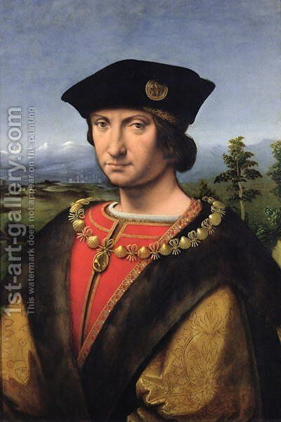 Portrait of Charles dAmboise 1471-1511 Marshal of France by Antonio da Solario - Reproduction Oil Painting
