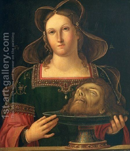 Salome with the head of St. John the Baptist by Antonio da Solario - Reproduction Oil Painting