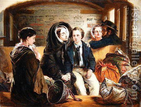 Second Class - The Parting Thus part we rich in sorrow, parting poor., 1855 by Abraham Soloman - Reproduction Oil Painting