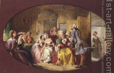 The Lesson in the use of the Fan by Abraham Solomon - Reproduction Oil Painting