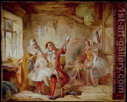 Backstage at the Theatre Royal, possibly depicting Ira Frederick Aldridge 1807-67 rehearsing Othello, 1862 by Abraham Solomon - Reproduction Oil Painting