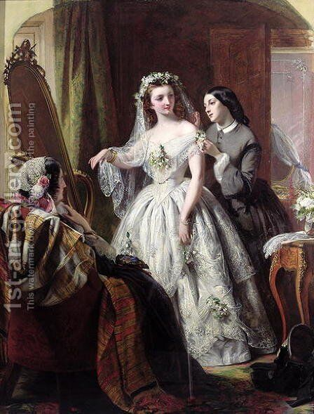 The Bride, 1856 by Abraham Solomon - Reproduction Oil Painting