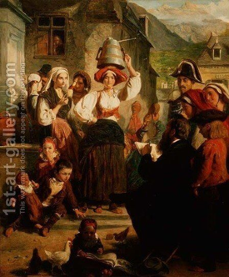 The Artist Abroad by Abraham Solomon - Reproduction Oil Painting