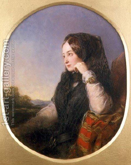 Portrait of Countess Eugenie 1826-1920, 1846 by Abraham Solomon - Reproduction Oil Painting