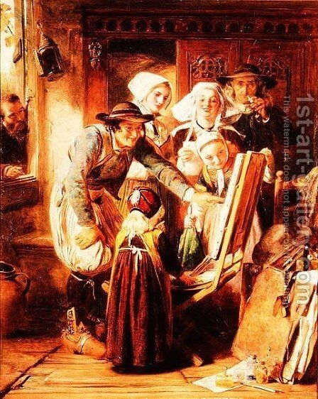 Art Critics in Brittany, 1860 by Abraham Solomon - Reproduction Oil Painting