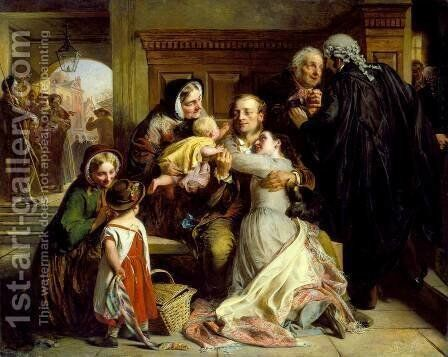 The Acquittal by Abraham Solomon - Reproduction Oil Painting