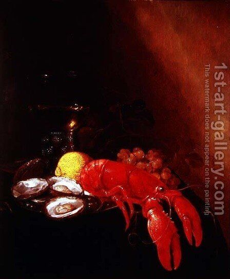 Still Life with Lobster by Jan Frans van Son - Reproduction Oil Painting