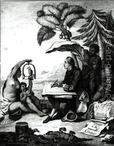 Pierre Sonnerat Drawing a Bird, from Voyage a la Nouvelle-Guinee, engraved by Marie Therese Martinet b.1731 1776 by (after) Sonnerat, Pierre - Reproduction Oil Painting