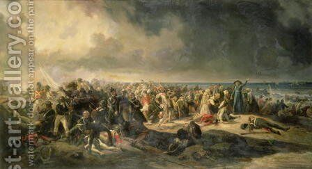 Scene of the Landing at Quiberon in 1795, 1850 by Jean Sorieul - Reproduction Oil Painting