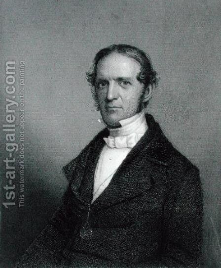 William Hickling Prescott, engraved by Thomas B. Welch 1814-74 after a daguerreotype by (after) Southworth, A.S. and Hawes, J. - Reproduction Oil Painting