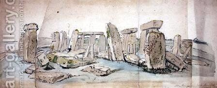 Stonehenge by James Sowerby - Reproduction Oil Painting