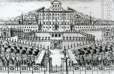 View of the Villa Aldobrandini from the garden by Alessandro Spechi - Reproduction Oil Painting