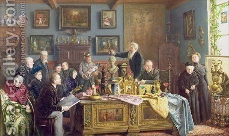 The Auction, 1910 by Carl Johann Spielter - Reproduction Oil Painting