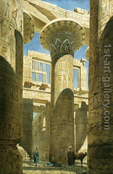 Karnak, c.1866 by Benjamin W. Spiers and Richard Phene - Reproduction Oil Painting