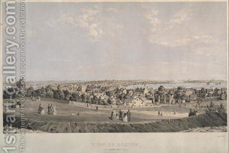 View of Boston from Telegraph Hill, South Boston by B. Spindler - Reproduction Oil Painting