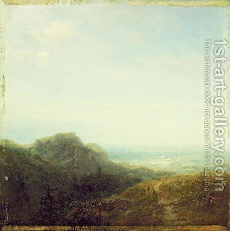 Overlooking the Valley by Carl Spitzweg - Reproduction Oil Painting