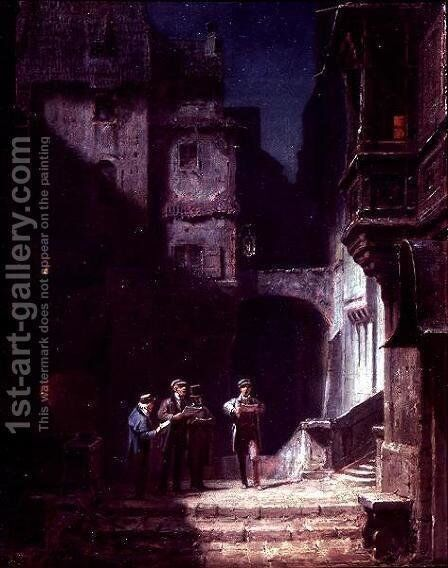 Serenade by Carl Spitzweg - Reproduction Oil Painting
