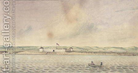 Fort Union, Missouri, 1843 by Isaac Sprague - Reproduction Oil Painting