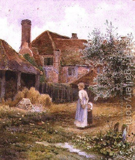 The Farmyard by Alice Squire - Reproduction Oil Painting