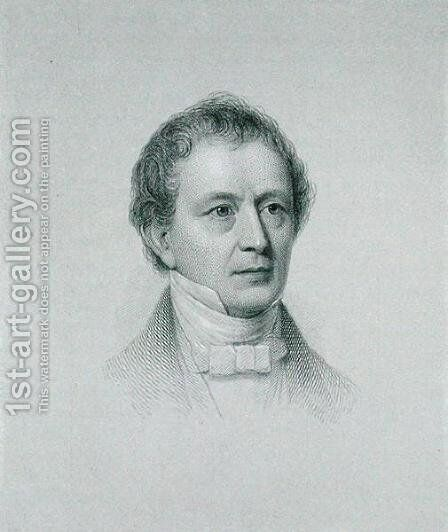 Edward Everett, engraved by John Cheney 1801-85 by (after) Staigg, Richard Morrell - Reproduction Oil Painting