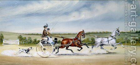 Driving the Tandem Cart, 1905 by Henry William Standing - Reproduction Oil Painting